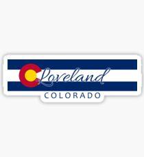 Loveland Colorado flag stripe Sticker