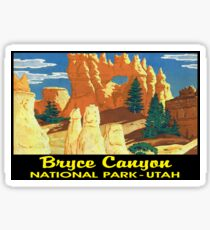 Bryce Canyon National Park Utah Vintage Bumper Luggage Sticker
