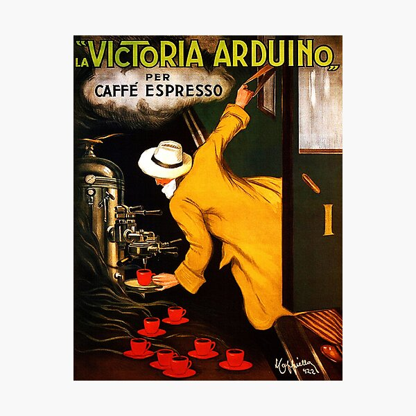 La Victoria Arduino Caffe Expresso Italy - Advertising / Coffee Vintage Poster Photographic Print