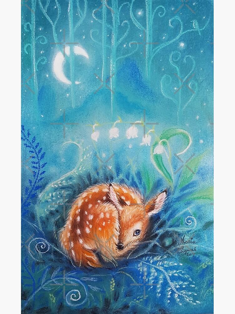 Cute dreaming deer by Maria Tiqwah by MariaTiqwah