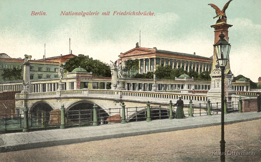 Berlin National Gallery and Friedrichsbruecke by Klaus Offermann