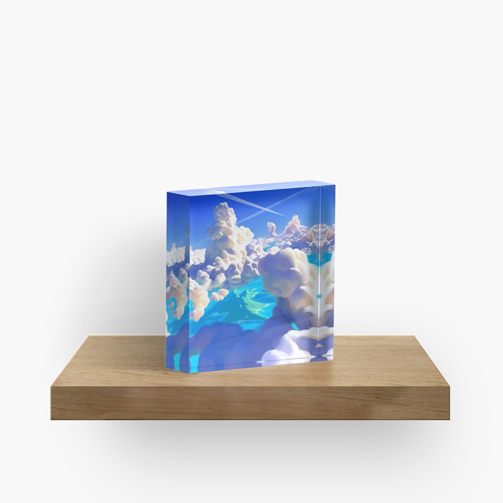 Ocean Clouds Acrylic Block