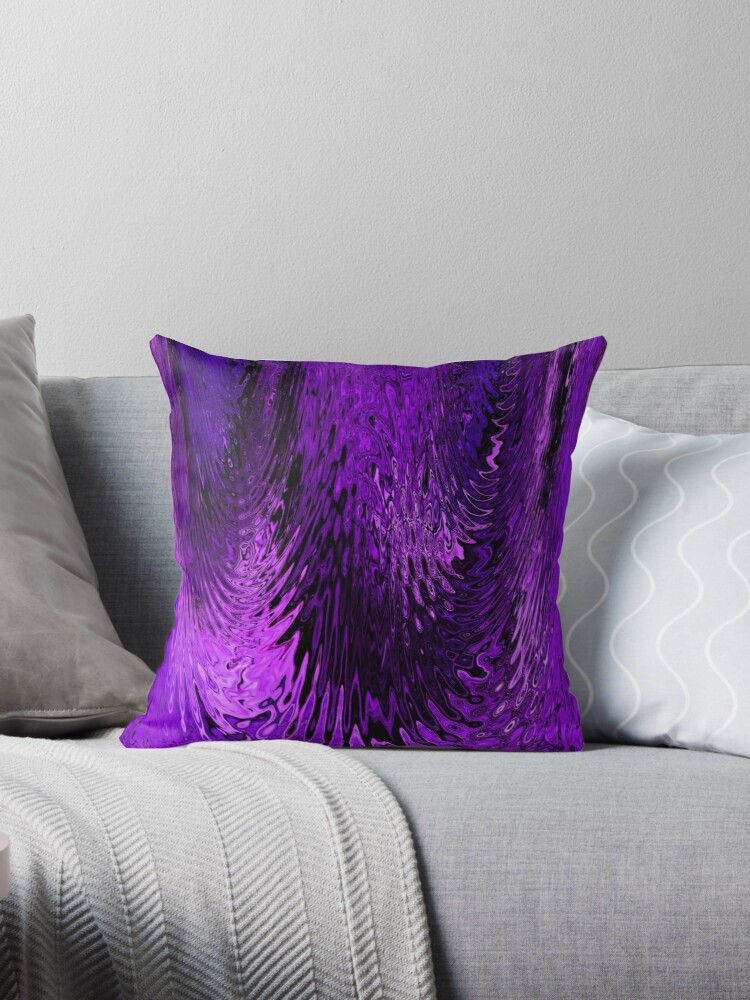 Purple and Lavender Water Glass Abstract Ripple Design by Adri Turner
