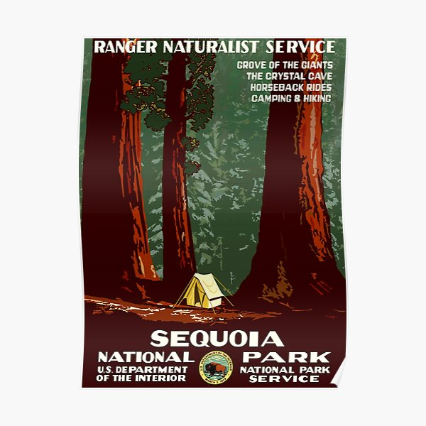 Sequoia National Park - WPA Vintage Poster Poster