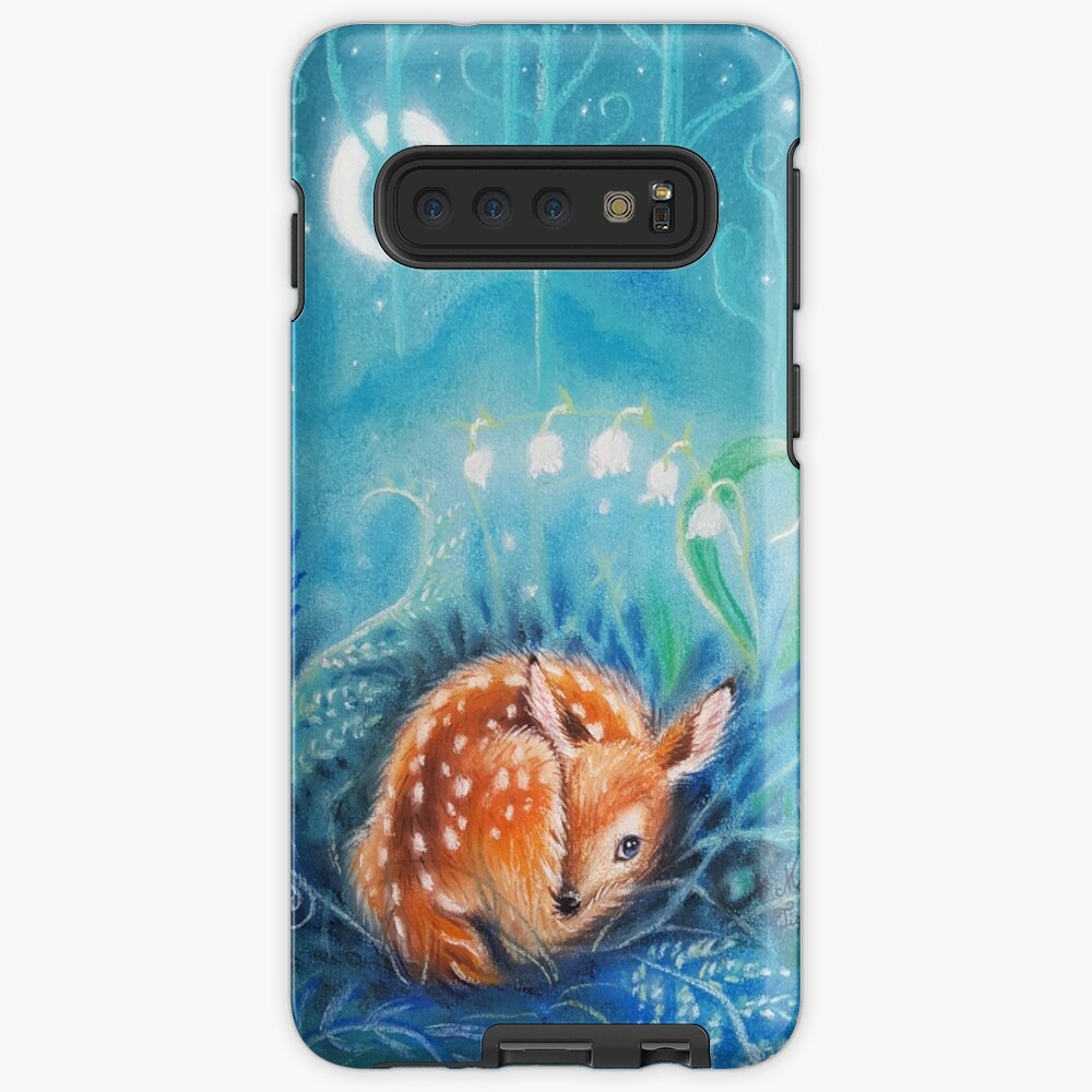 Cute dreaming deer by Maria Tiqwah Case & Skin for Samsung Galaxy