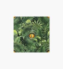 Watercolor dinosaur eye and prehistoric plants Art Board