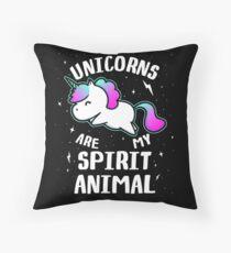 Unicorns Are My Spirit Animal Throw Pillow