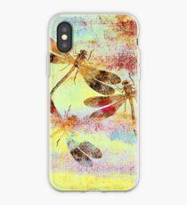 Mauritius Vintage Dragonflies Colours S iPhone Case