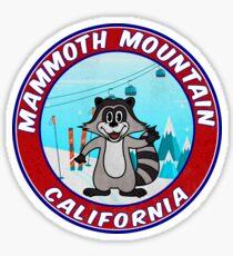Skiing Mammoth Mountain California Ski Vintage Laptop  Sticker