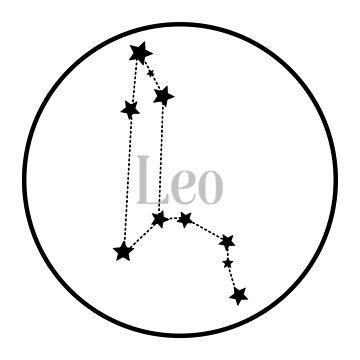 Leo zodiac constellation (white) by EleYeah