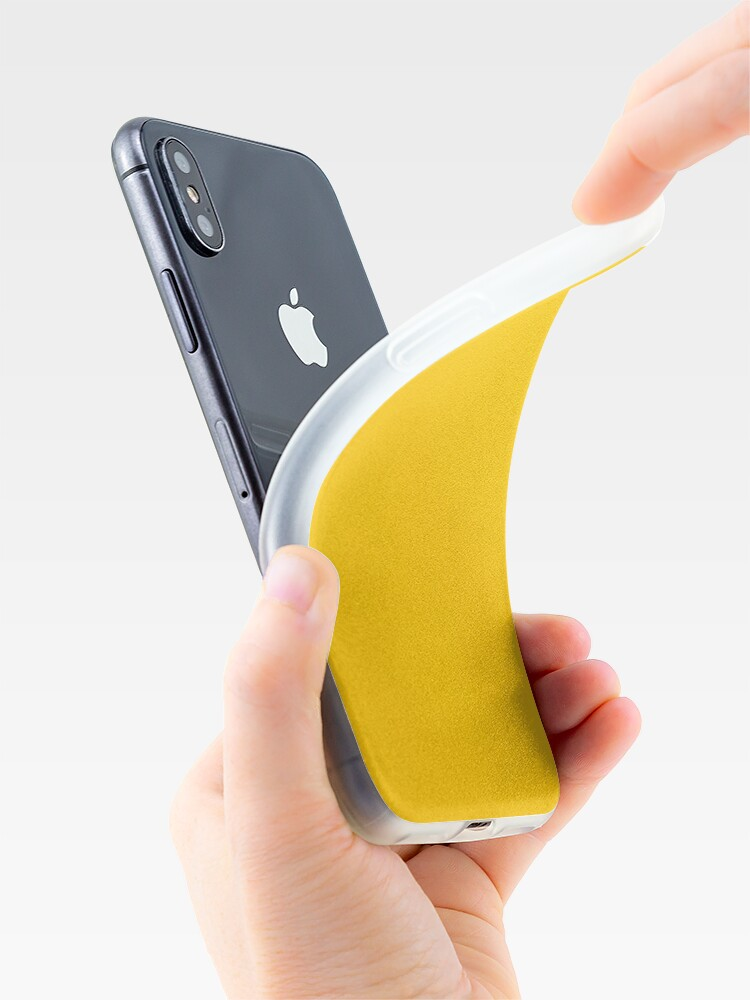 Alternate view of Yellow leather iPhone Case & Cover