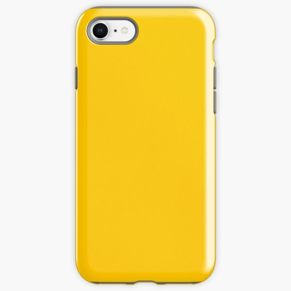 Yellow leather iPhone Tough Case
