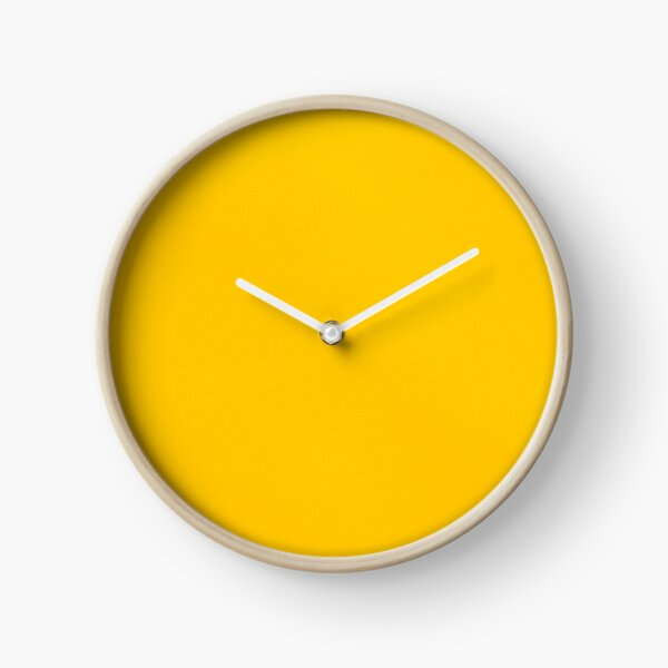 Yellow leather Clock