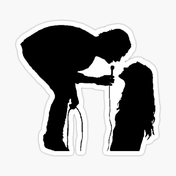 Robbers silhouette  Sticker