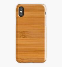 Bamboo wood texture iPhone Case/Skin