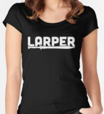 LARPER | Medieval Sword Women's Fitted Scoop T-Shirt