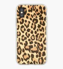 Leopard leather pattern texture closeup iPhone Case