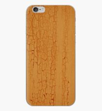 Yellow paint on wood background iPhone Case