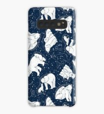 Polar Bear and Constellation Arctic Night Sky Stars Case/Skin for Samsung Galaxy