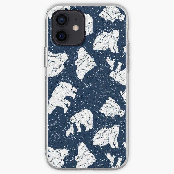Polar Bear and Constellation Arctic Night Sky Stars iPhone Soft Case