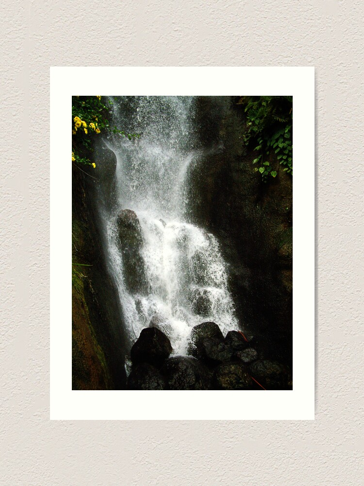 Alternate view of Waterfall, The Eden Project, Cornwall, UK Art Print