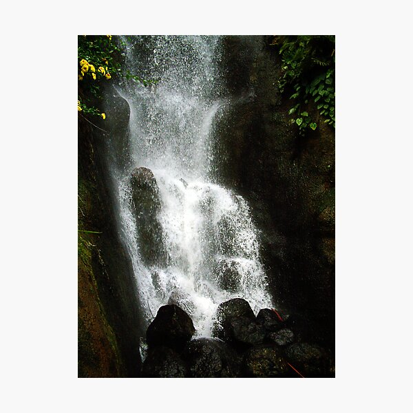 Waterfall, The Eden Project, Cornwall, UK Photographic Print