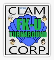 Clam Corp FK-U Turnaround Sticker
