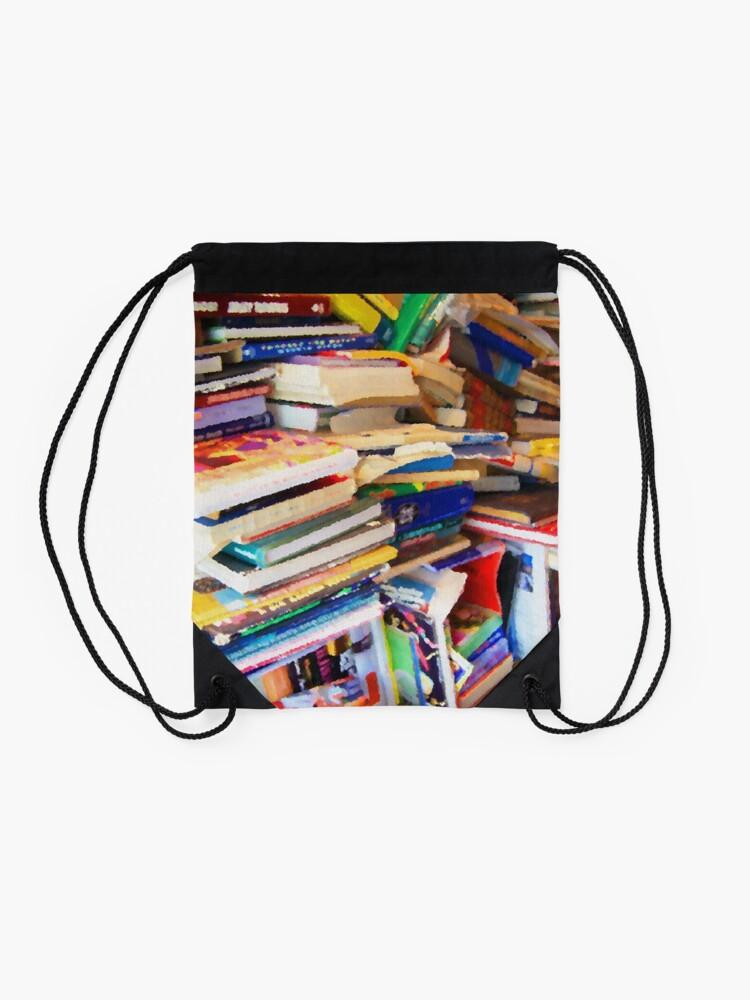 Alternate view of Stacks of Books Drawstring Bag