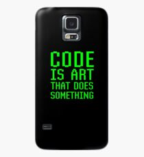 Code Is Art That Does Something Funny Computer Programming Coding Gift Case/Skin for Samsung Galaxy