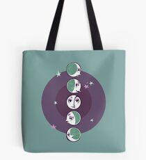 Waxing and waning moons Tote Bag