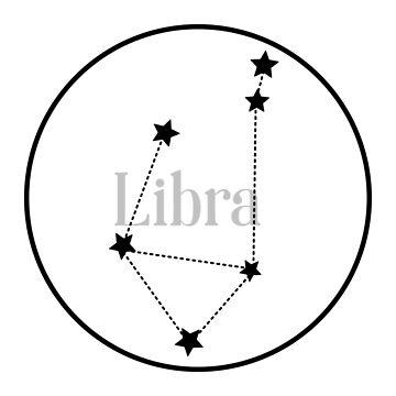 Libra zodiac constellation (white) by EleYeah