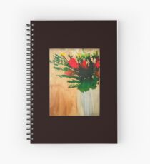 """Flowers in a Vase"" Original by Tony DuPuis Spiral Notebook"