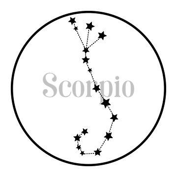 Scorpio zodiac constellation (white) by EleYeah