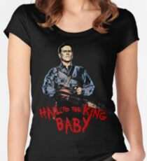 Hail to the King Baby Women's Fitted Scoop T-Shirt