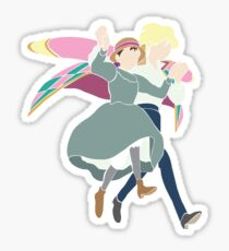 Howl and Sophie Walking on Air Sticker
