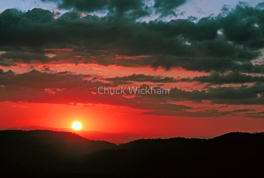 SUNSET AND CLOUDS by Chuck Wickham