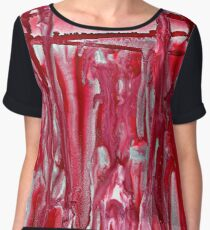 Crimson Winter Landscape Women's Chiffon Top