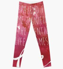Once the intention of life becomes love, Rumi Quote Leggings