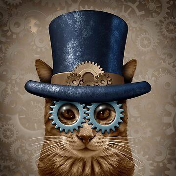 Steam Punk Vintage Cat by lightidea