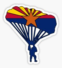 Arizona flag parachute skydiver Sticker