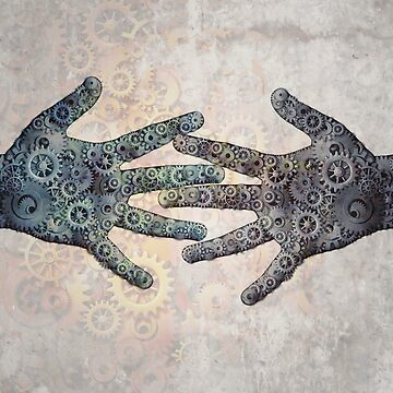steampunk hands together by lightidea