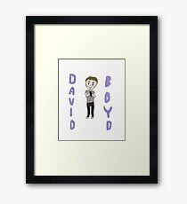 David Boyd Drawing! Framed Print