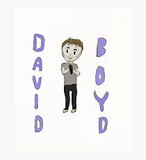 David Boyd Drawing! Photographic Print
