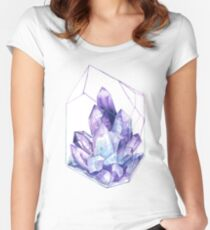 Amethyst  Women's Fitted Scoop T-Shirt