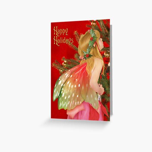 Christmas tree fairy Greeting Card