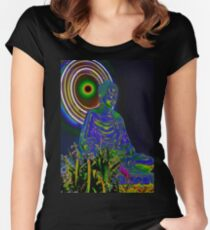 Psychedelic Buddha Women's Fitted Scoop T-Shirt