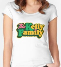 The Kelly Family logo Women's Fitted Scoop T-Shirt