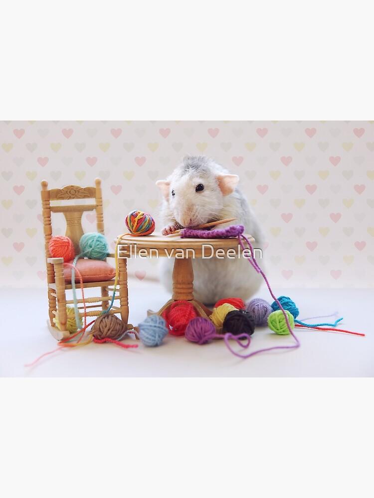 Rosie still knitting..... by Ellen