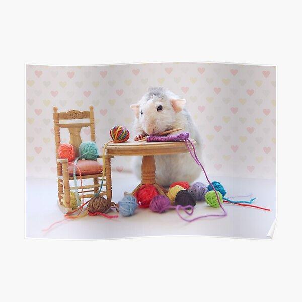 Rosie still knitting..... Poster