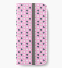 teal white eggs on pink iPhone Wallet/Case/Skin